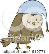 Poster, Art Print Of Cartoon Owl Sleeping