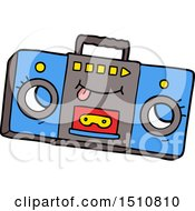Cartoon Retro Cassette Tape Player by lineartestpilot