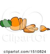 Cartoon Carrot Chopped by lineartestpilot