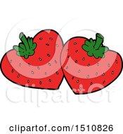 Cartoon Strawberries by lineartestpilot