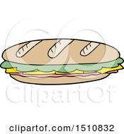 Cartoon Baguette by lineartestpilot