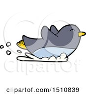 Cartoon Penguin Sliding by lineartestpilot