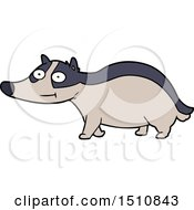 Cartoon Friendly Badger by lineartestpilot