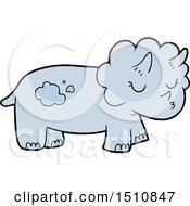 Poster, Art Print Of Cartoon Triceratops