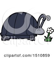 Poster, Art Print Of Cartoon Bug And Flower