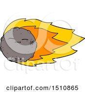 Poster, Art Print Of Cartoon Meteorite