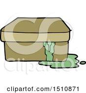 Cartoon Box With Slime
