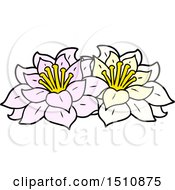 Poster, Art Print Of Cartoon Flowers