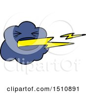 Cartoon Thundercloud Spitting Lightning by lineartestpilot