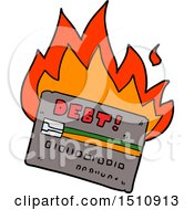 Burning Credit Card Cartoon