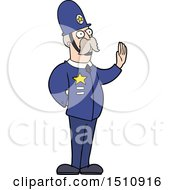 Cartoon Policeman Making Stop Gesture by lineartestpilot