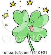 Happy Cartoon Four Leaf Clover