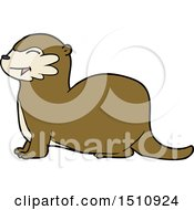 Laughing Otter Cartoon by lineartestpilot