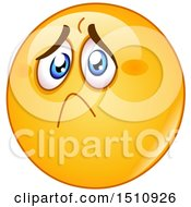 Clipart Of A Sad And Hurt Yellow Emoji Smiley Royalty Free Vector Illustration