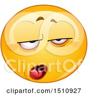 Clipart Of A Contempt Yellow Emoji Smiley Royalty Free Vector Illustration