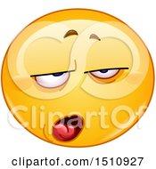 Poster, Art Print Of Contempt Yellow Emoji Smiley