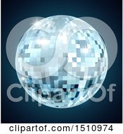Clipart Of A Mirror Disco Ball Royalty Free Vector Illustration by AtStockIllustration