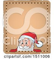 Christmas Parchment Page With Santa Claus