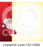 Christmas Sign With Santa Claus