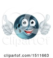 Clipart Of A Happy Bowling Ball Mascot Giving Two Thumbs Up Royalty Free Vector Illustration by AtStockIllustration