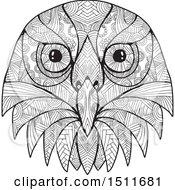 Poster, Art Print Of Black And White Australian Barking Owl Face