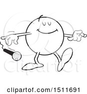 Clipart Of A Pleased Moodie Character Dropping The Mic Royalty Free Vector Illustration