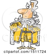 Clipart Of A Cartoon King George In A Yellow Outfit Royalty Free Vector Illustration by toonaday
