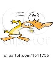Poster, Art Print Of Cartoon Yellow Duck Ducking