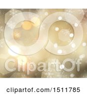 Clipart Of A Winter Christmas Snowflake Background Royalty Free Illustration