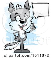 Clipart Of A Happy Talking Female Wolf Royalty Free Vector Illustration