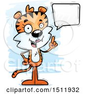 Clipart Of A Happy Talking Female Tiger Royalty Free Vector Illustration