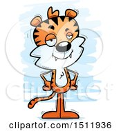 Clipart Of A Confident Male Tiger Royalty Free Vector Illustration