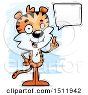 Clipart Of A Happy Talking Male Tiger Royalty Free Vector Illustration