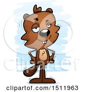 Clipart Of A Confident Male Beaver Royalty Free Vector Illustration by Cory Thoman
