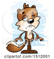 Clipart Of A Sad Male Squirrel Royalty Free Vector Illustration