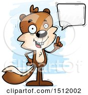 Clipart Of A Happy Talking Male Squirrel Royalty Free Vector Illustration