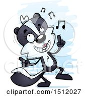 Clipart Of A Happy Dancing Female Skunk Royalty Free Vector Illustration