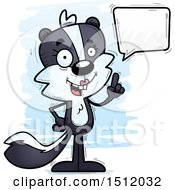 Clipart Of A Happy Talking Female Skunk Royalty Free Vector Illustration