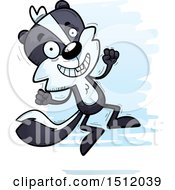 Clipart Of A Jumping Male Skunk Royalty Free Vector Illustration