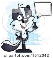 Clipart Of A Happy Talking Male Skunk Royalty Free Vector Illustration
