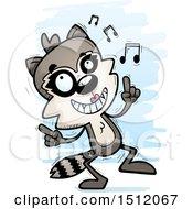 Happy Dancing Female Raccoon