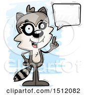 Clipart Of A Happy Talking Male Raccoon Royalty Free Vector Illustration