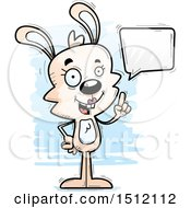 Clipart Of A Happy Talking Female Rabbit Royalty Free Vector Illustration