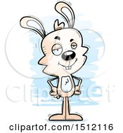 Clipart Of A Confident Male Rabbit Royalty Free Vector Illustration