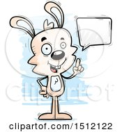 Clipart Of A Happy Talking Male Rabbit Royalty Free Vector Illustration