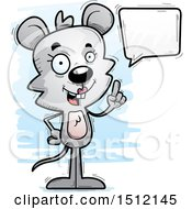 Clipart Of A Happy Talking Female Mouse Royalty Free Vector Illustration