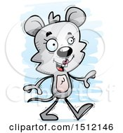 Clipart Of A Happy Walking Female Mouse Royalty Free Vector Illustration