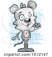 Clipart Of A Friendly Waving Female Mouse Royalty Free Vector Illustration