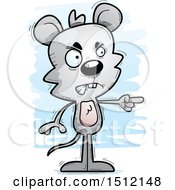 Clipart Of A Mad Pointing Male Mouse Royalty Free Vector Illustration