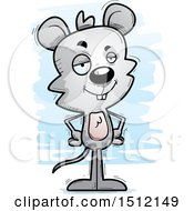 Clipart Of A Confident Male Mouse Royalty Free Vector Illustration